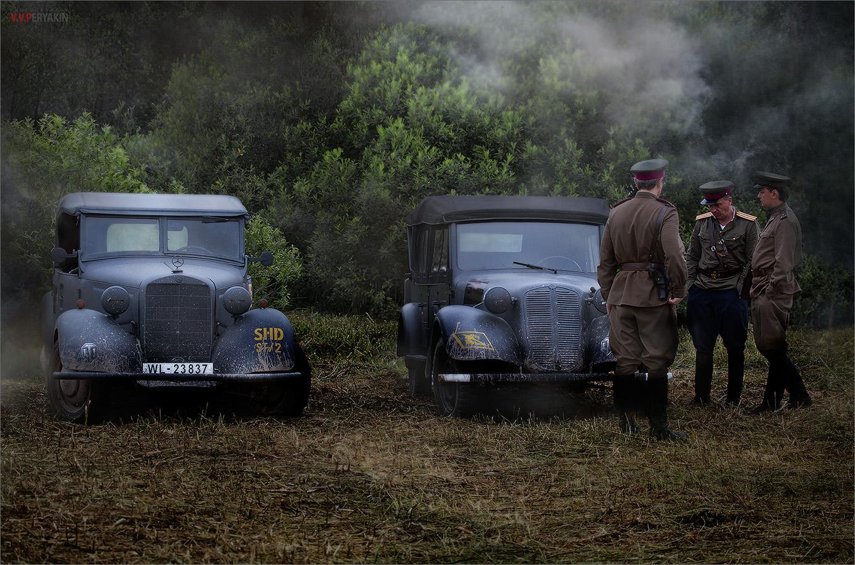 Mercedes 170VK Polizei - Tatra 57K