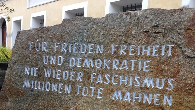 Memorial Stone Hitler Birthday House Braunau