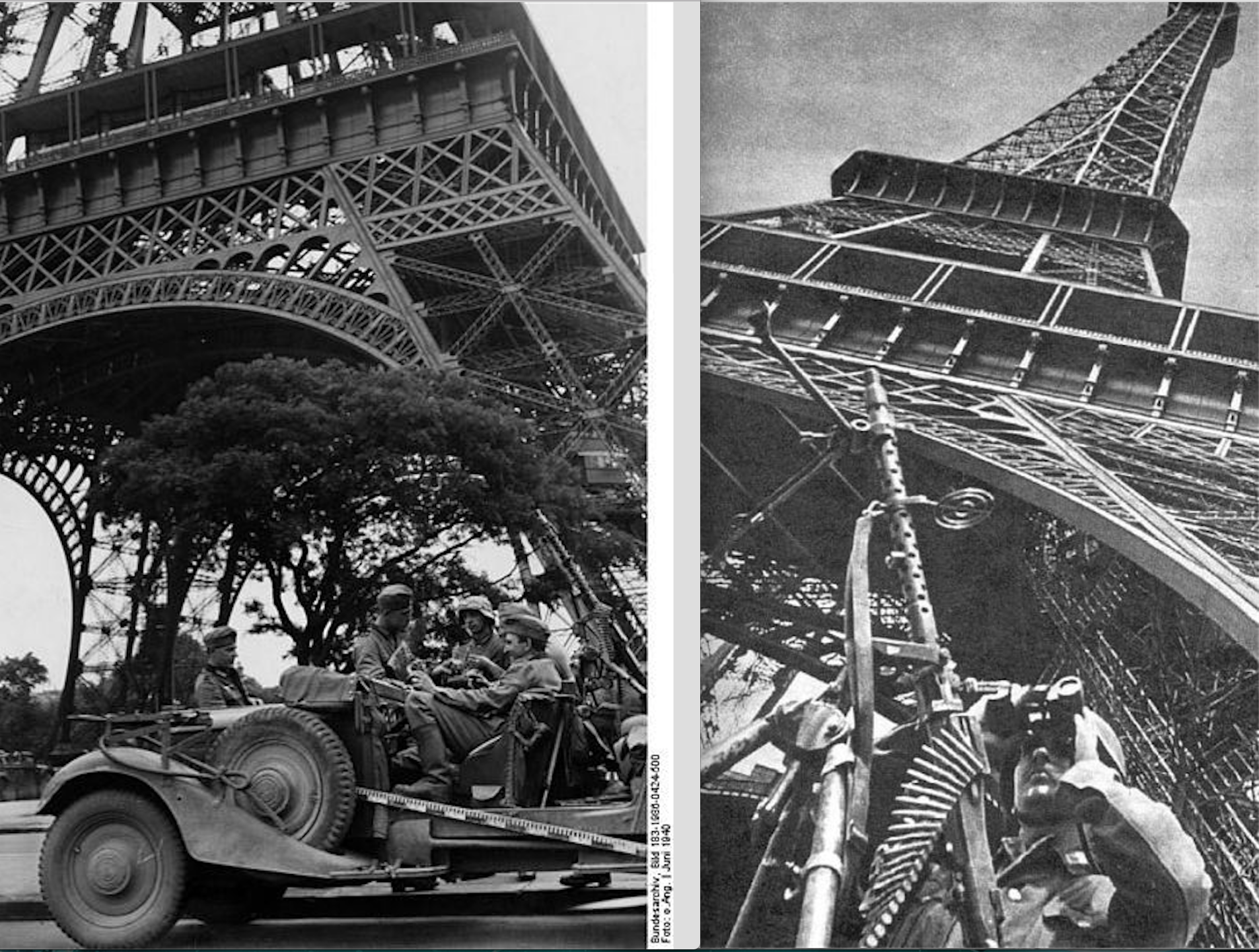 Horch 830R AntiAirCraft Eiffel Tower Paris June 1940