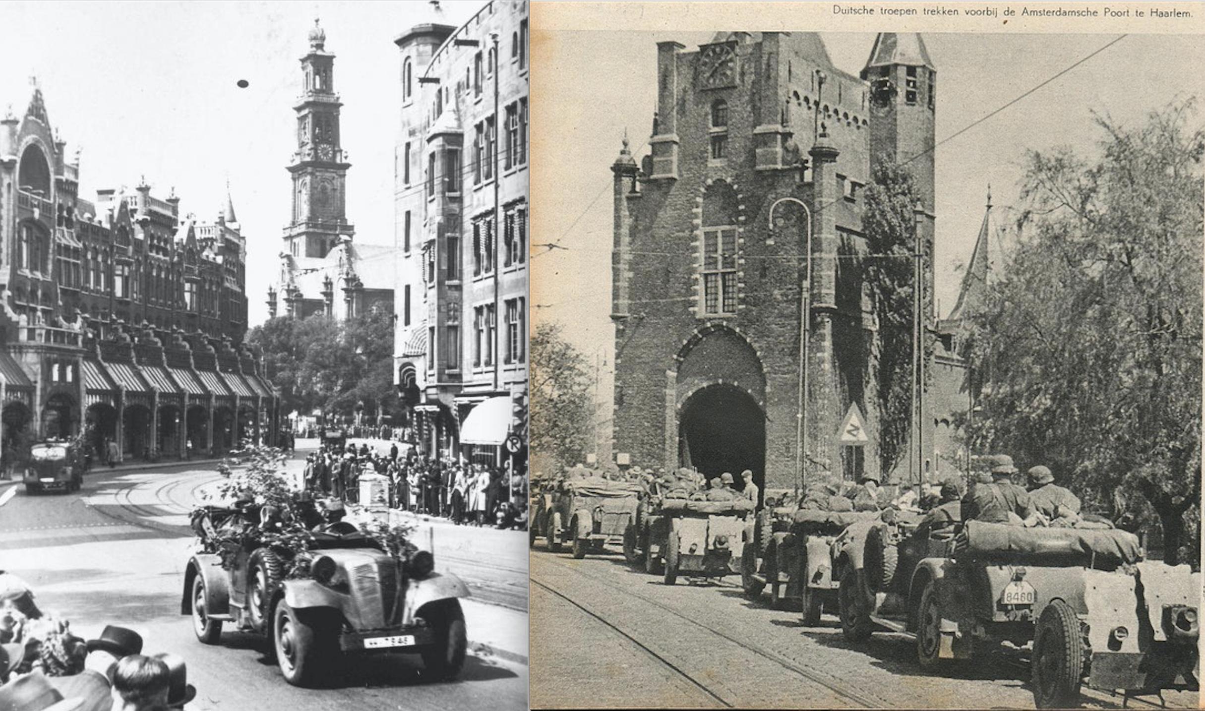 Adler 3Gd Wanderer W11 Netherlands Amsterdam Raadhuisstraat Haarlem 14 May 1940