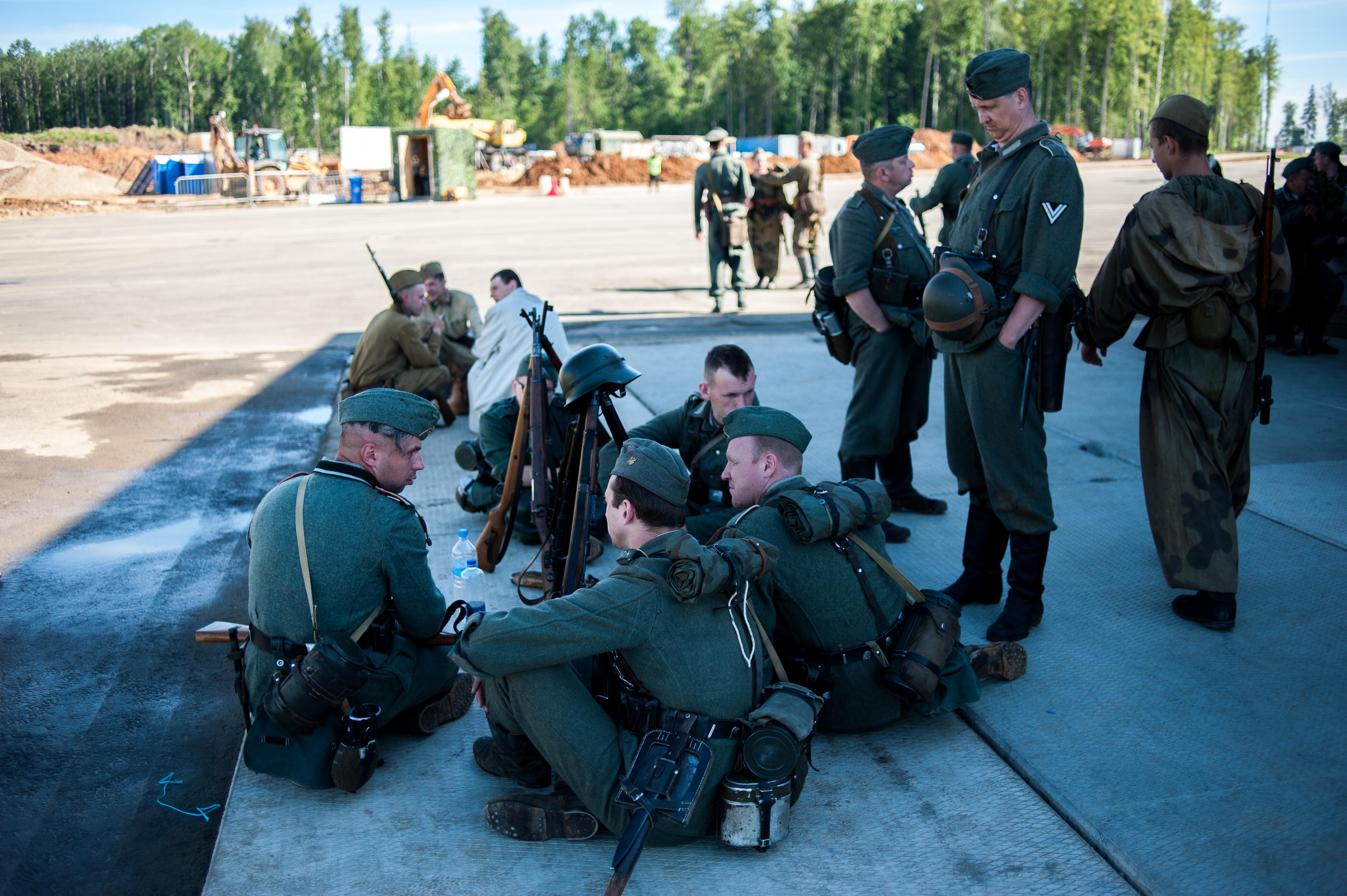 Реконструкция Wehrmacht Парк Патриот